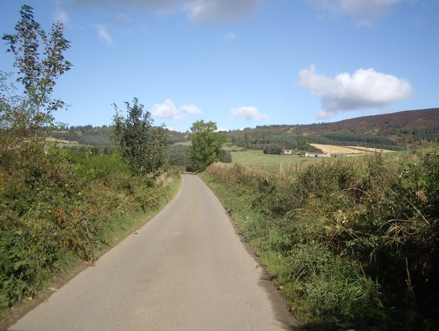 Minor road northwards from Ferretfold