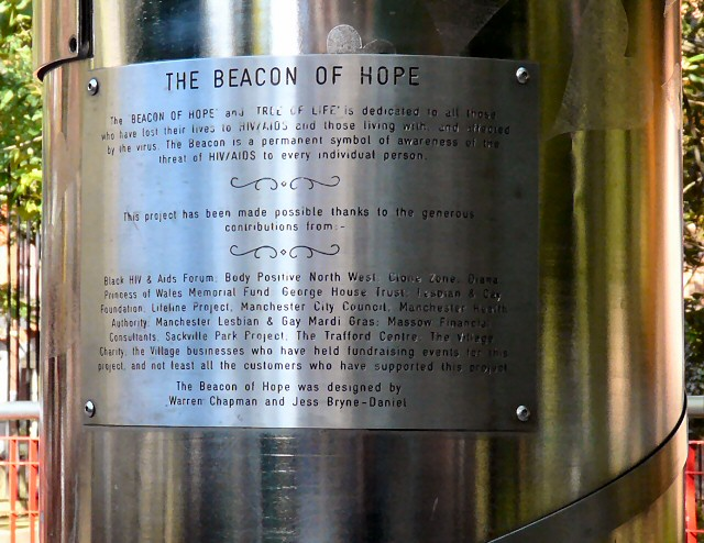 Beacon of Hope information plaque