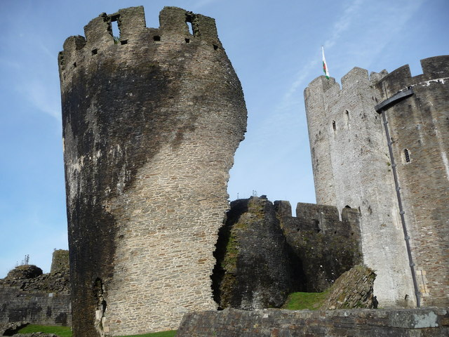 The leaning tower of Caerphilly