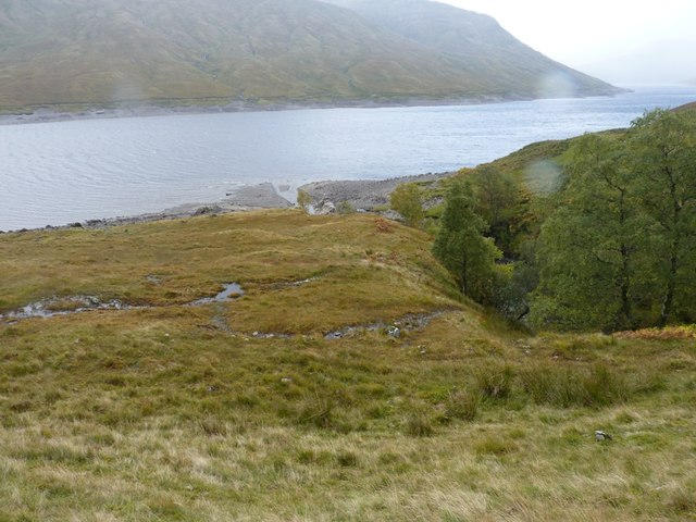 The gully and outflow of the Eas Eoghannan