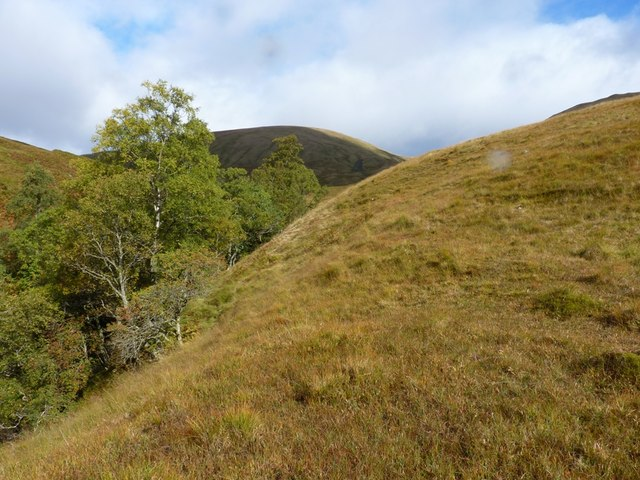 The steep and wooded gully of the Eas Eoghannan