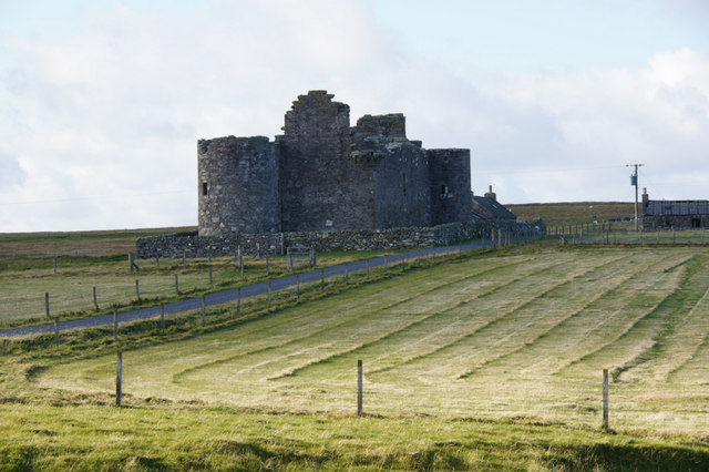 Muness Castle from the east