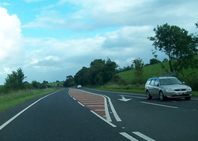 The A4 (Belfast Road) between Lisbellaw and Maguiresbridge