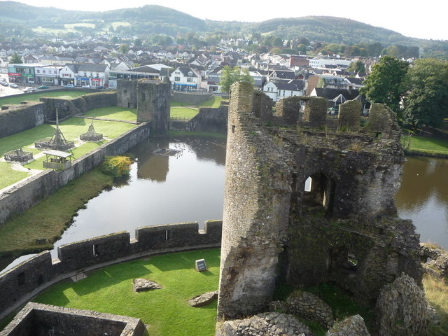 Part of Caerphilly Castle