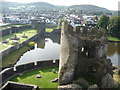 ST1587 : Part of Caerphilly Castle by Jeremy Bolwell