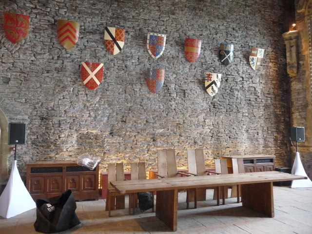 Inside the Great Hall at Caerphilly Castle
