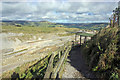 SK1581 : The viewing platform - Hope Quarry by Peter Turner