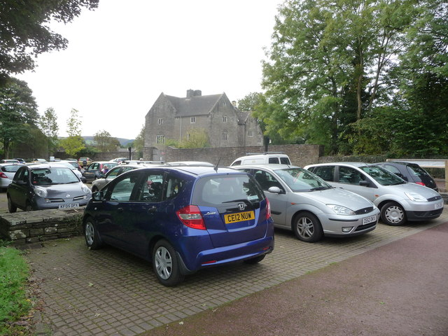 Car parking at Llancaiach Fawr