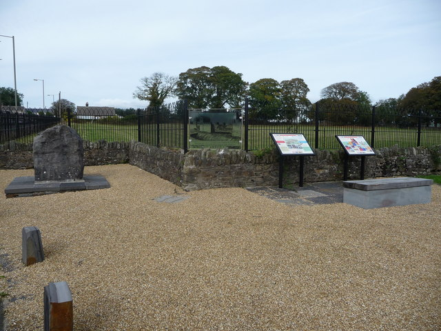 Part of Gelligaer Roman Fort remains