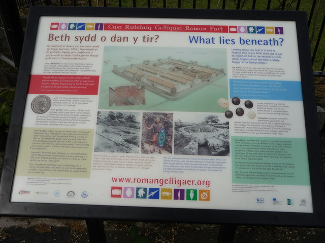 Interpretation board at Gelligaer