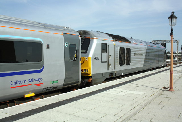 Chiltern Railways 'silver train' at Moor Street