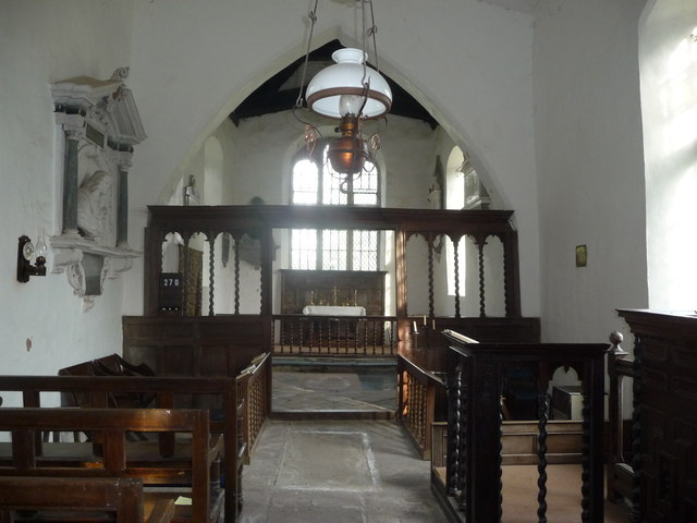 Inside St. Mary's church, Monnington-on-Wye