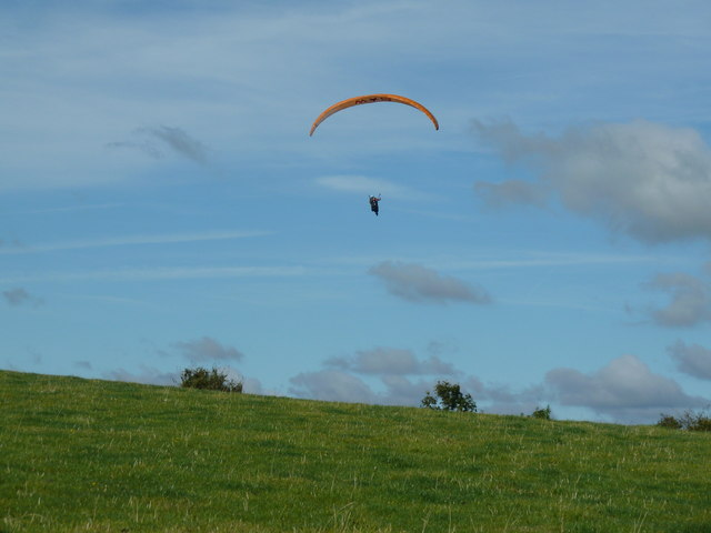Paraglider over Didling Hill
