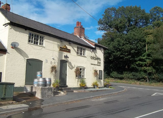 Public House and Road Junction in Acresford