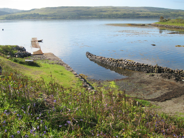 Old quay near Killiemore House