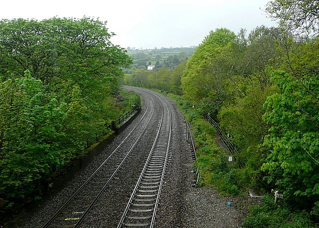 Railway looking west