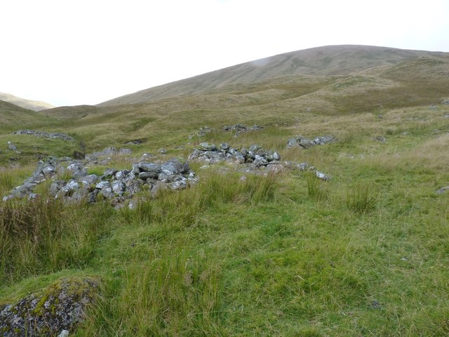 Shielings on the south side of Meall Buidhe
