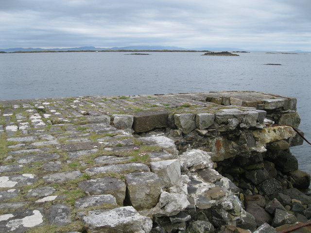 The end of Carsaig pier