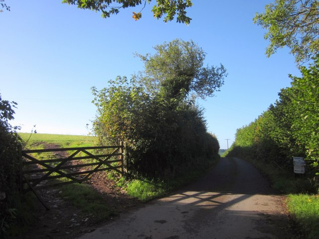 Lane to Higher Compton Barton