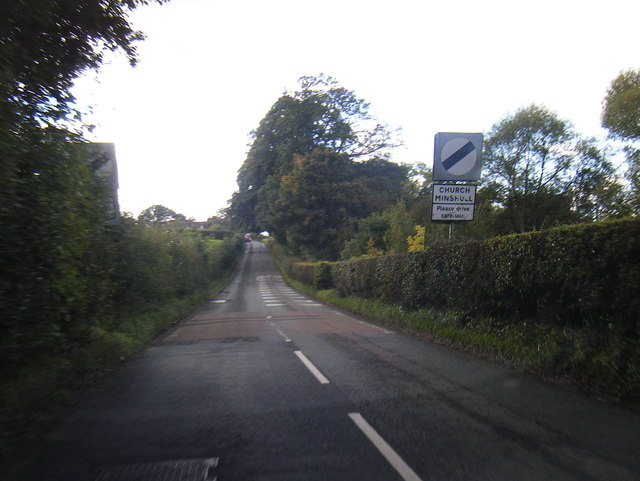 Cross Lane at Church Minshull boundary