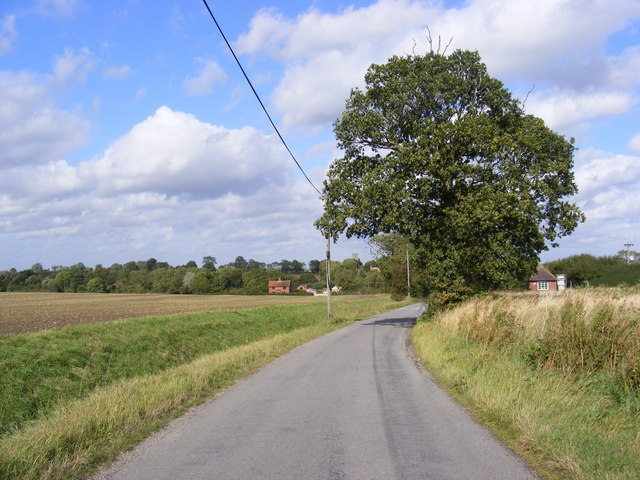 Road at St Peter South Elmham