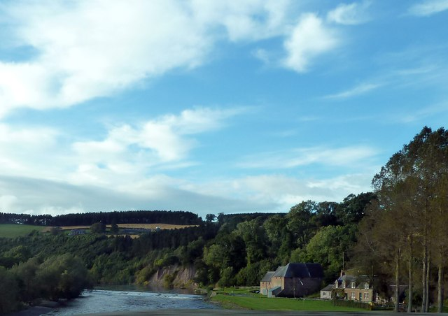 Mertoun Mill and River Tweed