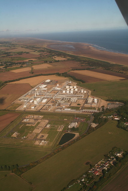 Theddlethorpe North Sea Gas Terminal: 2012 aerial