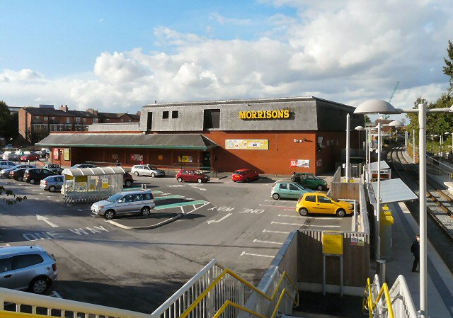 Chorlton Morrison's and Metrolink Station