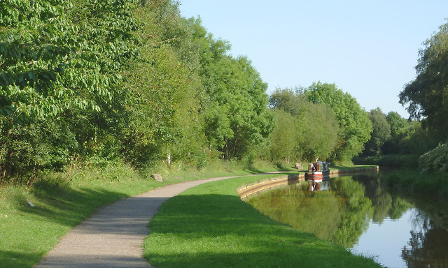 Towpath and canal by Harding's Wood, Staffordshire