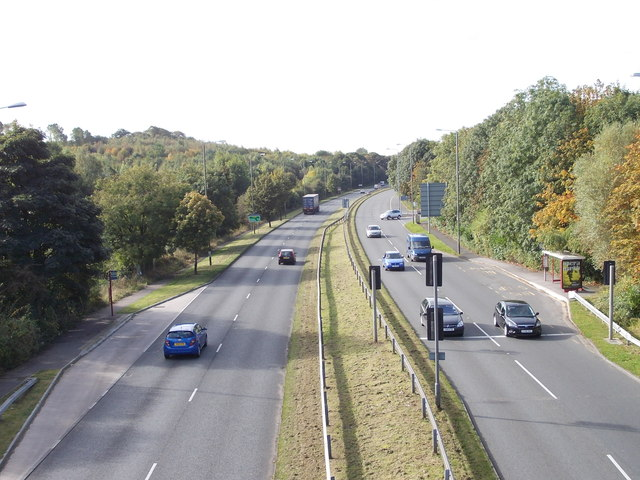 Ring Road, Moortown - viewed from Footbridge