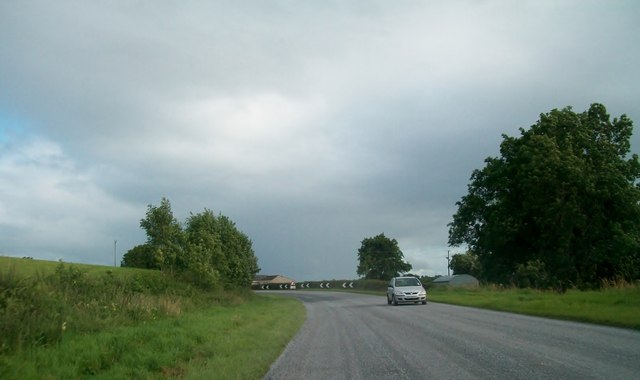 A bend on the A34 just north of Moorlough Lake