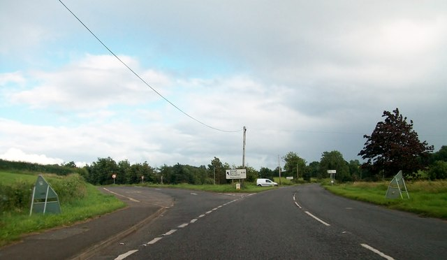 The B36 junction on the A34 between Lisnaskea and Newtownbutler