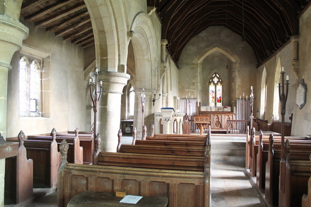 Interior, St Oswald's church, Howell