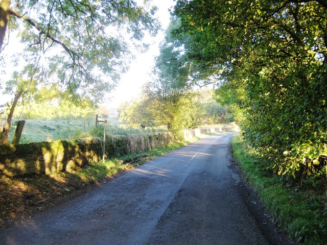 Road north of Dissington Village Hall