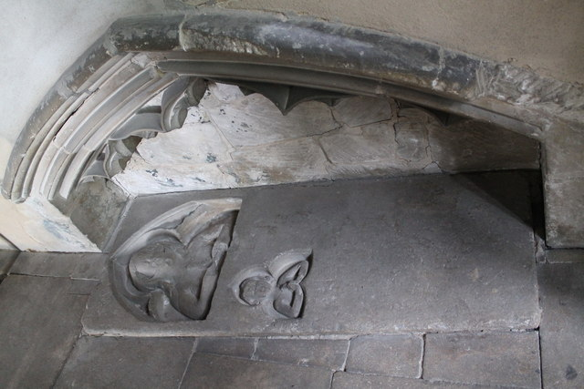 Tomb recess with slab, St Oswalds, Howell