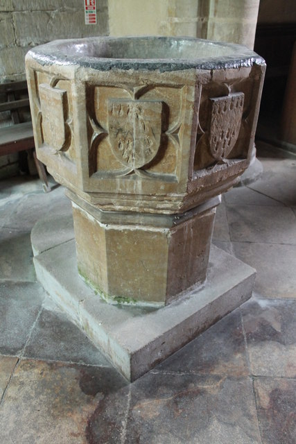 Font, St Oswald's church, Howell