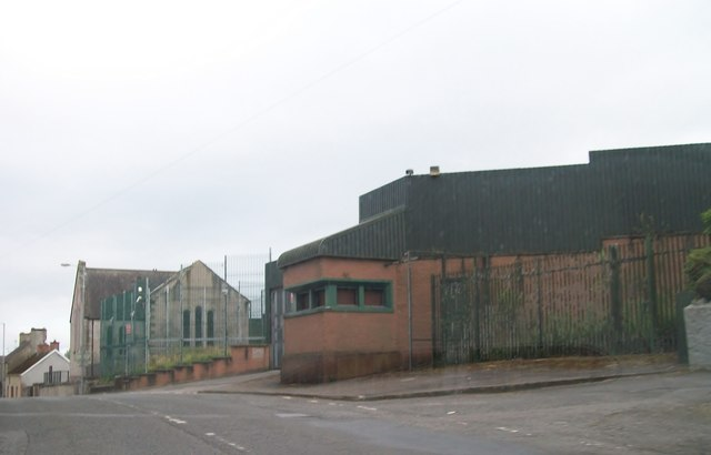 The decommissioned Newtownbutler PSNI station