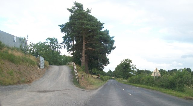 Farm entrance on the A34 on the eastern outskirts of Newtownbutler