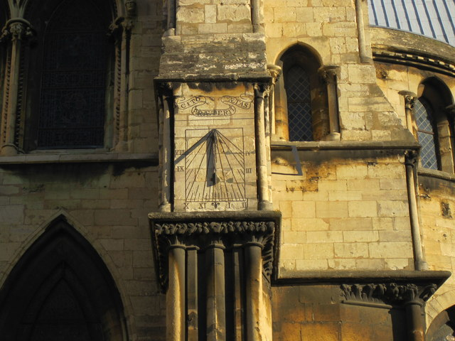 Sundial, Lincoln Cathedral