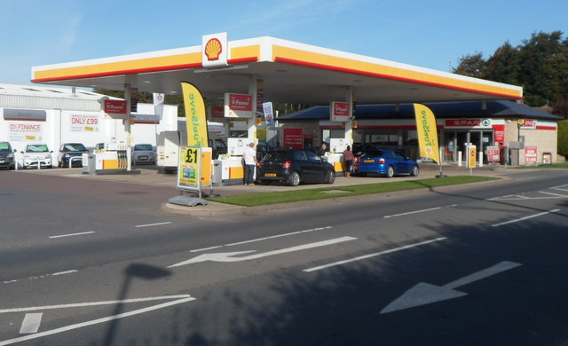 Shell garage and spar store draycott jaggery geograph britain and ireland - Find nearest shell garage ...