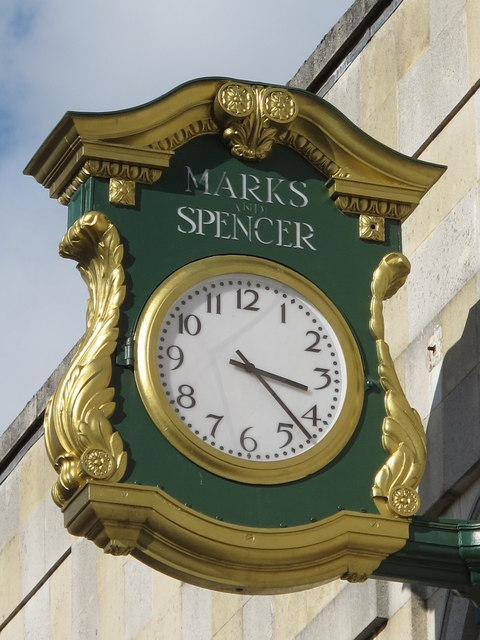 Clock on Marks and Spencers, Week Street, ME14