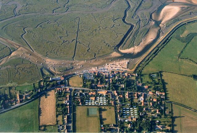 Burnham Overy Staithe, aerial 2003