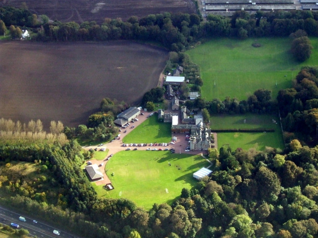 Clifton Hall School from the air