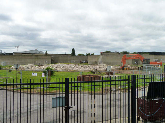 Demolition work, Crossness sewage works