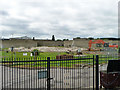 TQ4880 : Demolition work, Crossness sewage works by Robin Webster