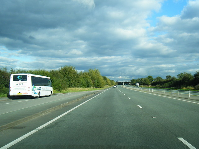 A500 looking east, south of Rope Hall
