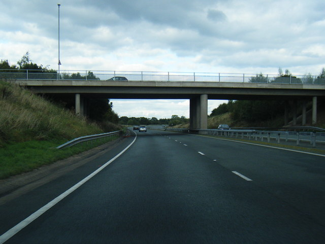 A500 passes under Rope Lane