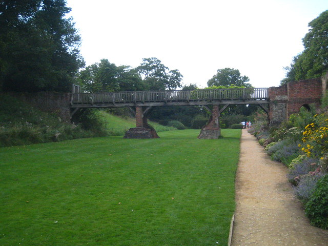 Footbridge over the dry moat at Eltham Palace