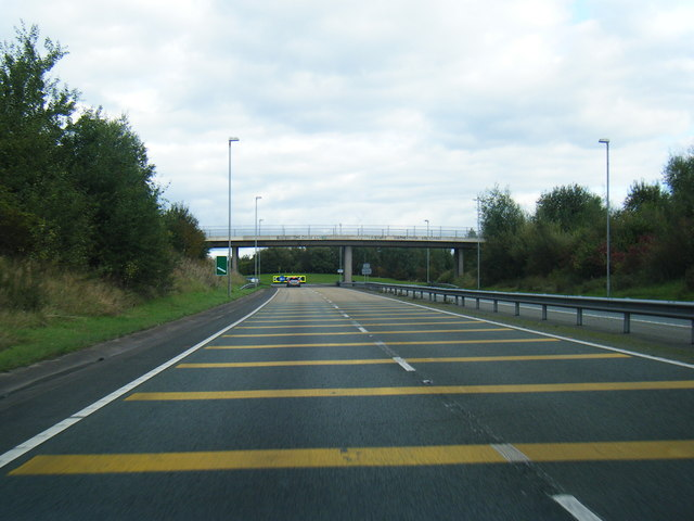A500 approaching Heath Farm roundabout