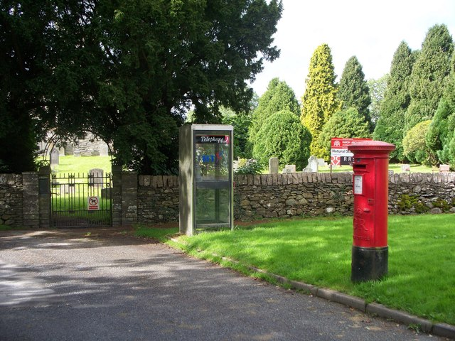 Post box and Telephone kiosk